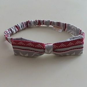 Gymboree one size Fair Isle headband baby bow